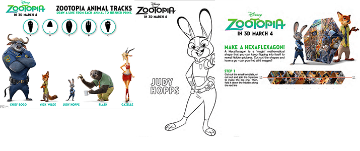 Coloring Page Zootopia : Zootopia coloring pages and new clips merlot mommy
