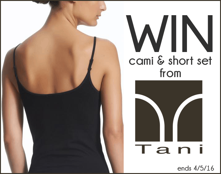 Enter to Win the Tani USA Giveaway