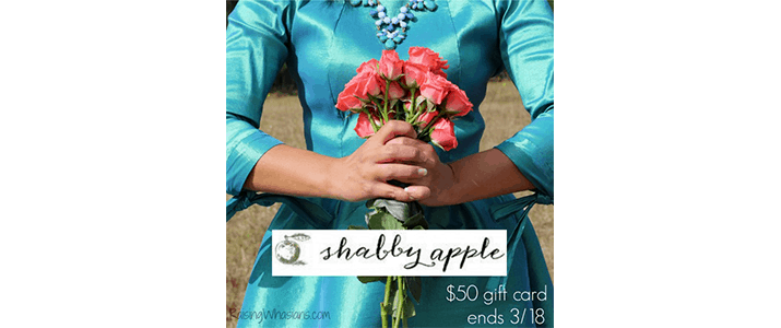 Enter to win a $50 Shabby Apple Gift Card ends 3/18