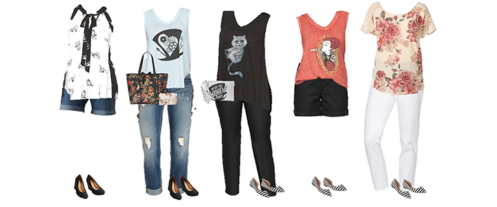 Alice Through the Looking Glass Mix and Match Fashion Styles