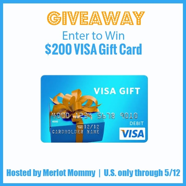 Giveaway - WIN A $200 Visa Gift Card! Ends 5/12