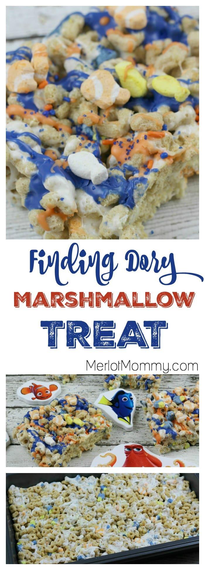 Finding Dory Marshmallow Treats
