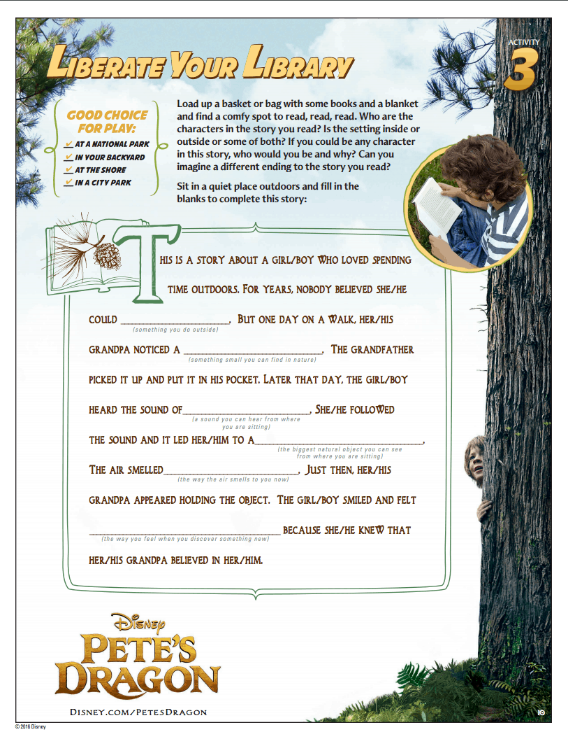 Pete's Dragon Activity Packet and New Clips