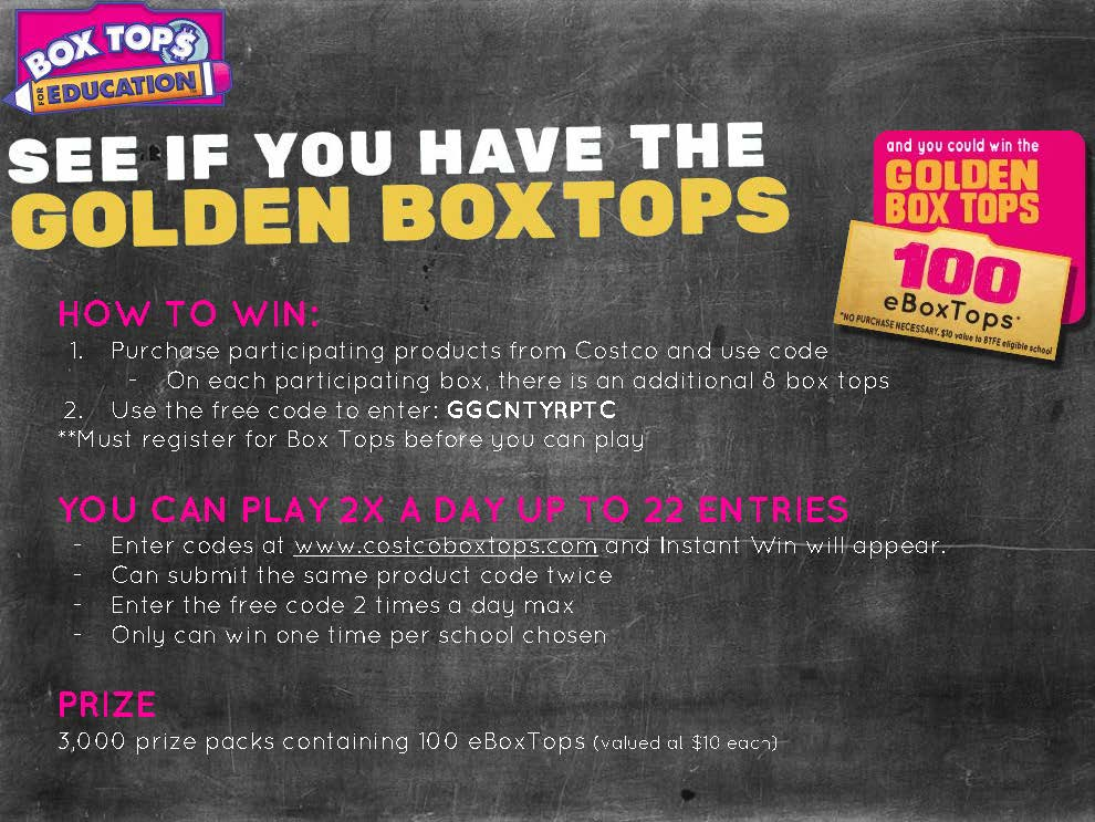 Join the Golden Box Tops Challenge