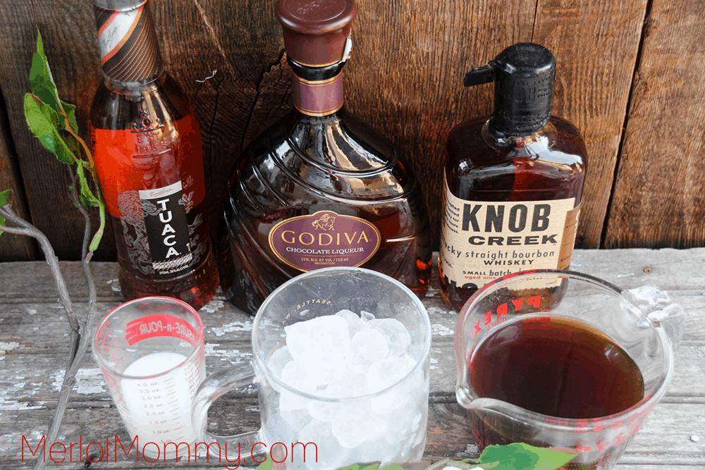 Iced Bourbon and Chocolate Coffee