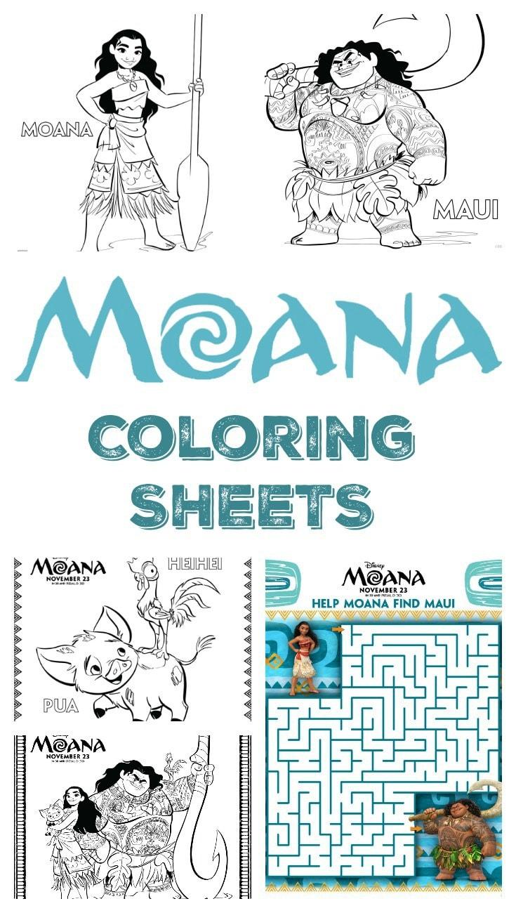 Moana Coloring Sheets pin