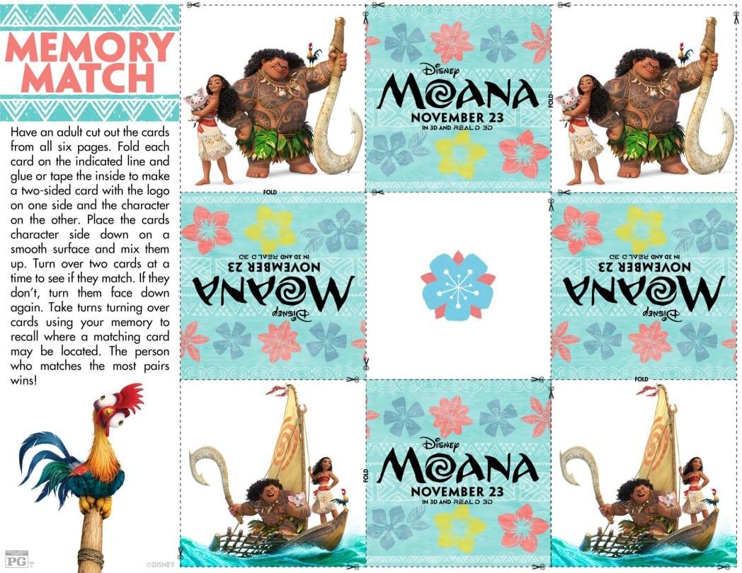 Moana Memory Match