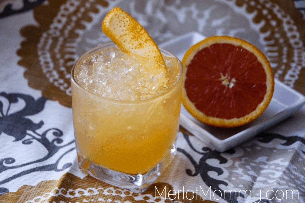 The Iced Cake and Orange Cocktail