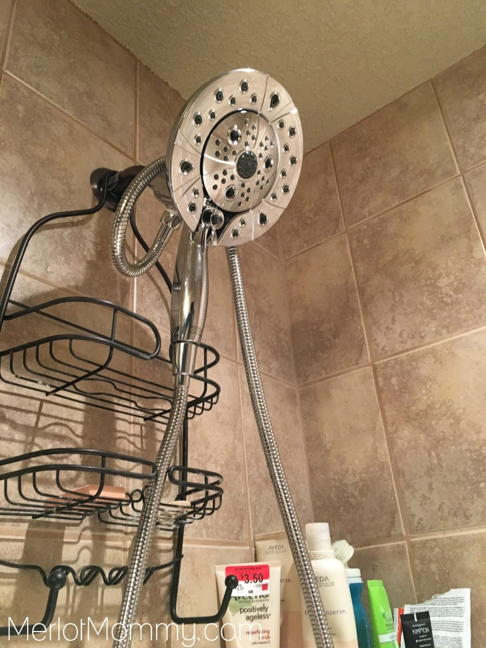 Clean your HappiMess with the Delta In2ition H2Okinetic Shower Head