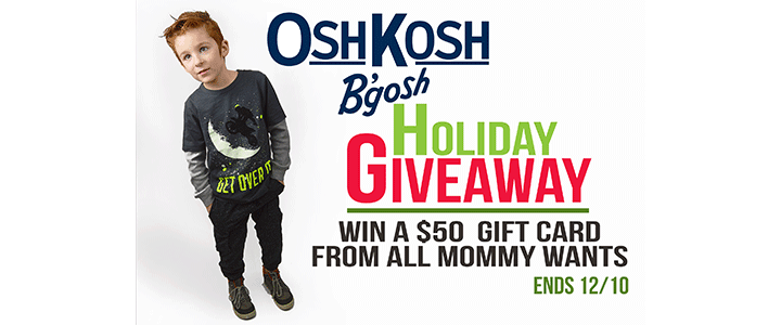 $50 OshKosh Gift Card Giveaway