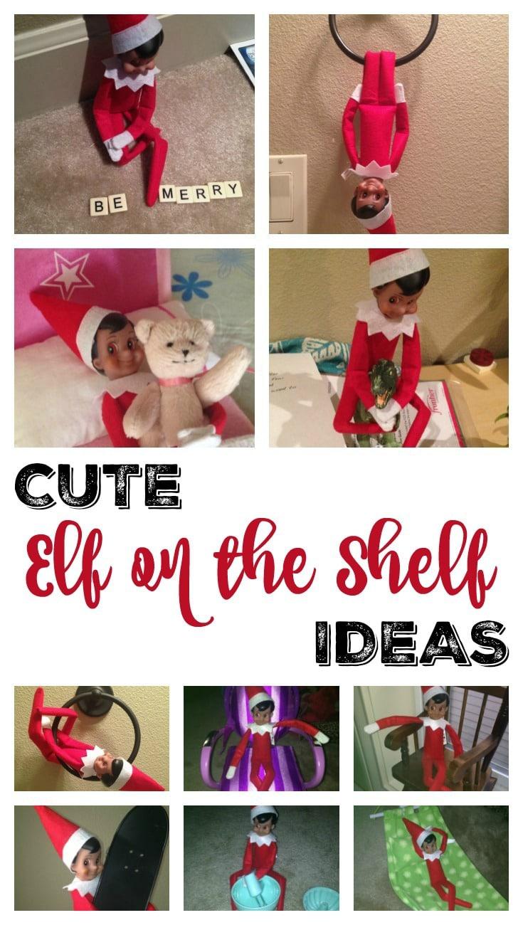 Cute Elf on the Shelf Ideas Pin