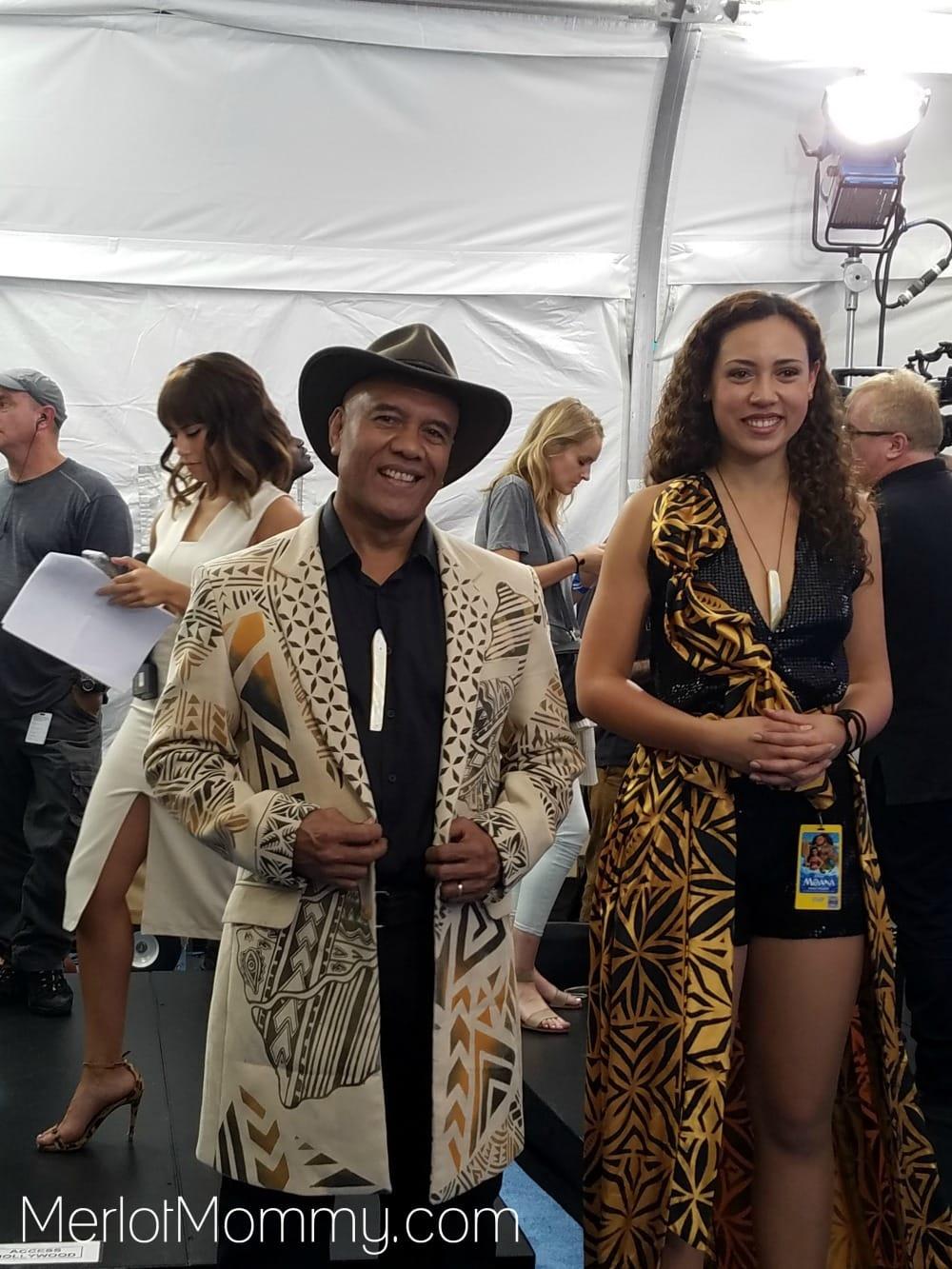 Moana Red Carpet Premiere Experience Opetaia Foai - Te Vaka
