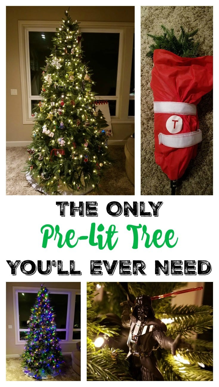 The ONLY Pre-Lit Tree You Will Ever Need Pin
