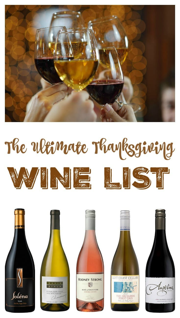 The Ultimate Holiday Wine Pairing List – 2016