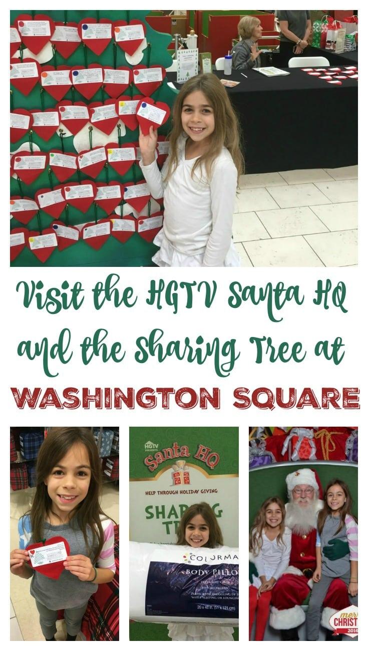 Visit the HGTV Santa HQ and the Sharing Tree at Washington Square Pin