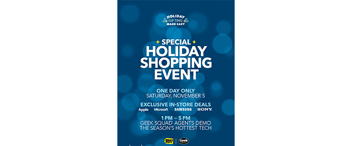 Best Buy In-Store Shopping Event November 5