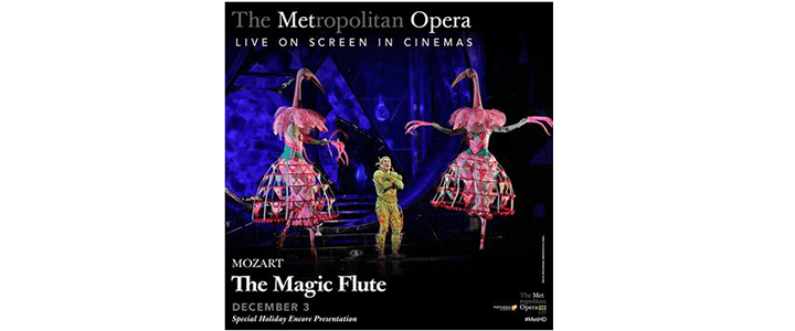 Win a Pair of Tickets to See The Magic Flute Presented by The Met in Portland