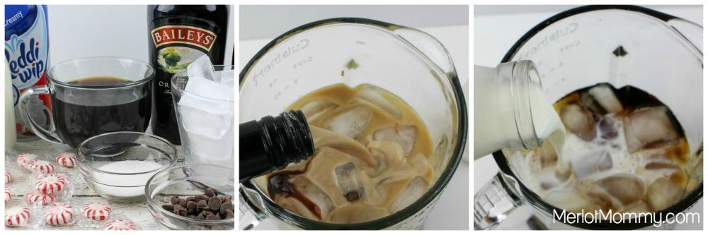 Baileys Peppermint Mocha Frappuccino process