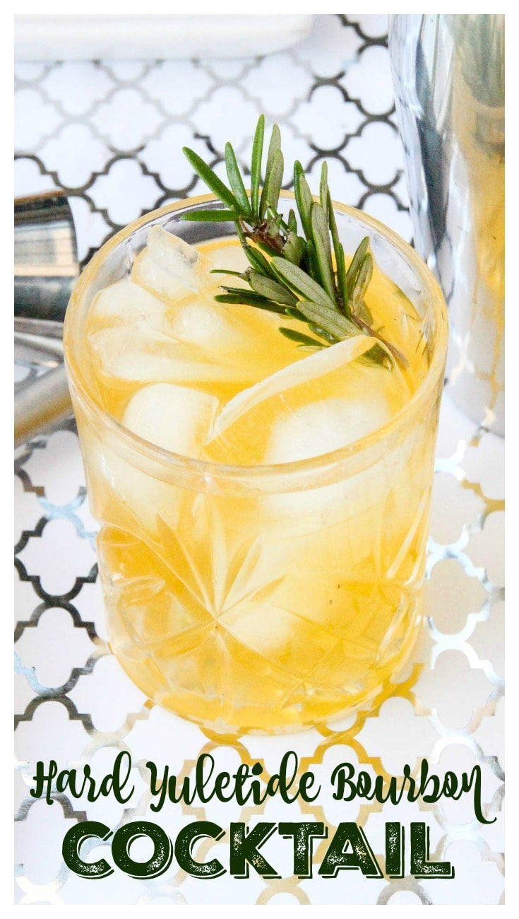Hard Yuletide Bourbon Cocktail