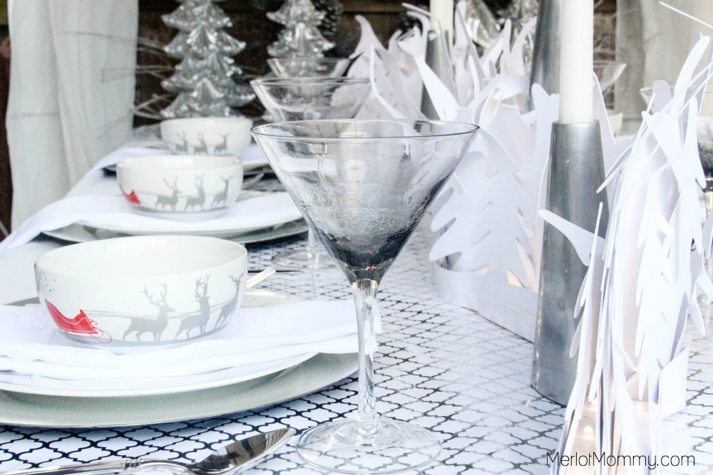 Silver and White Winter Wonderland Tablescape