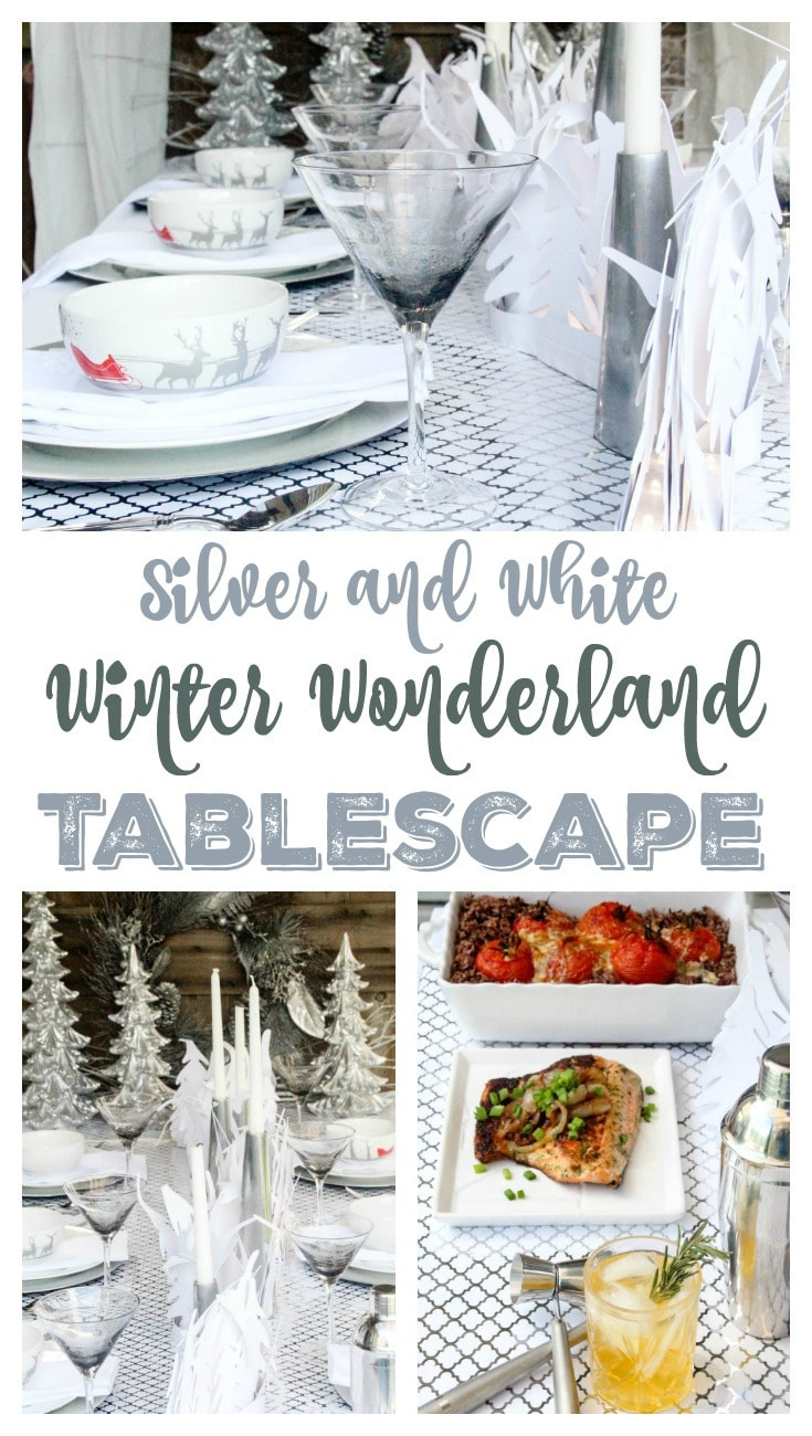 Silver and White Winter Wonderland Tablescape Pin