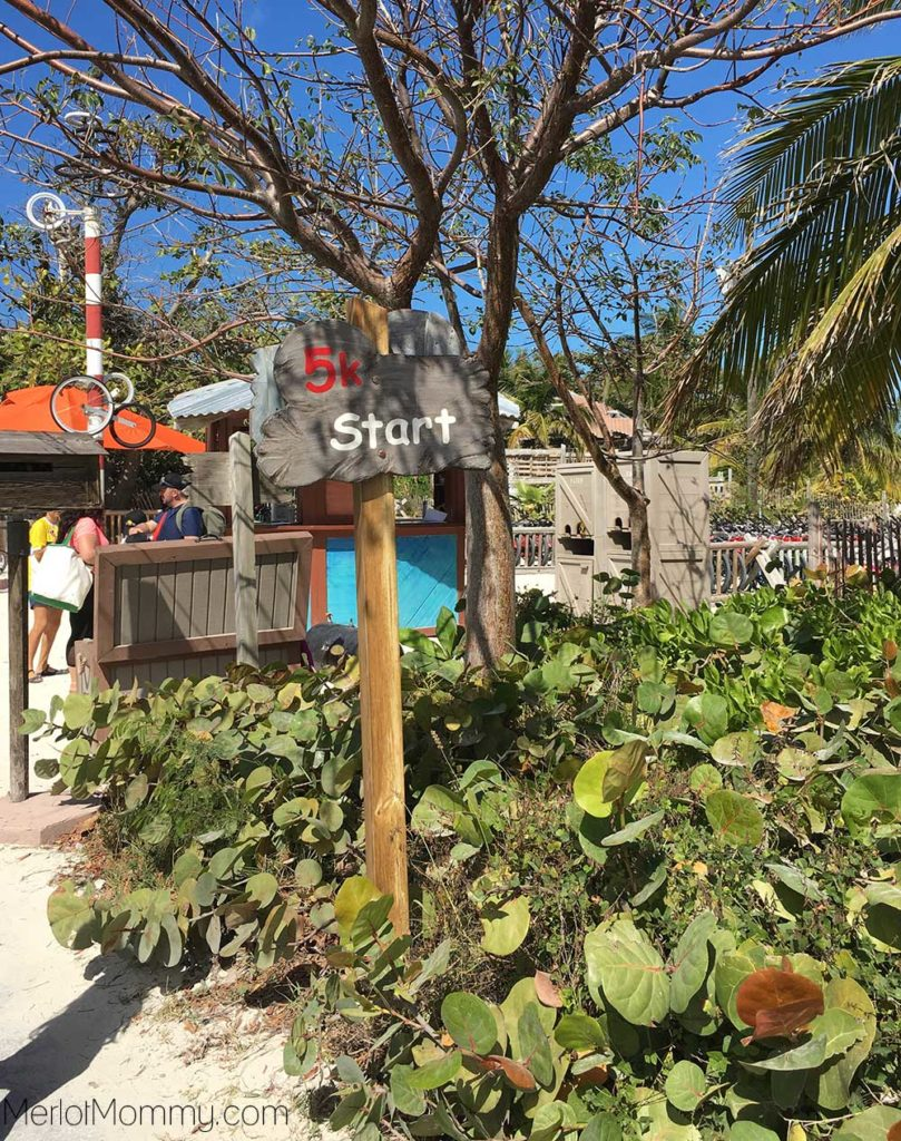runDisney Castaway Cay 5k for the Family on the Disney Cruise Line - Start sign