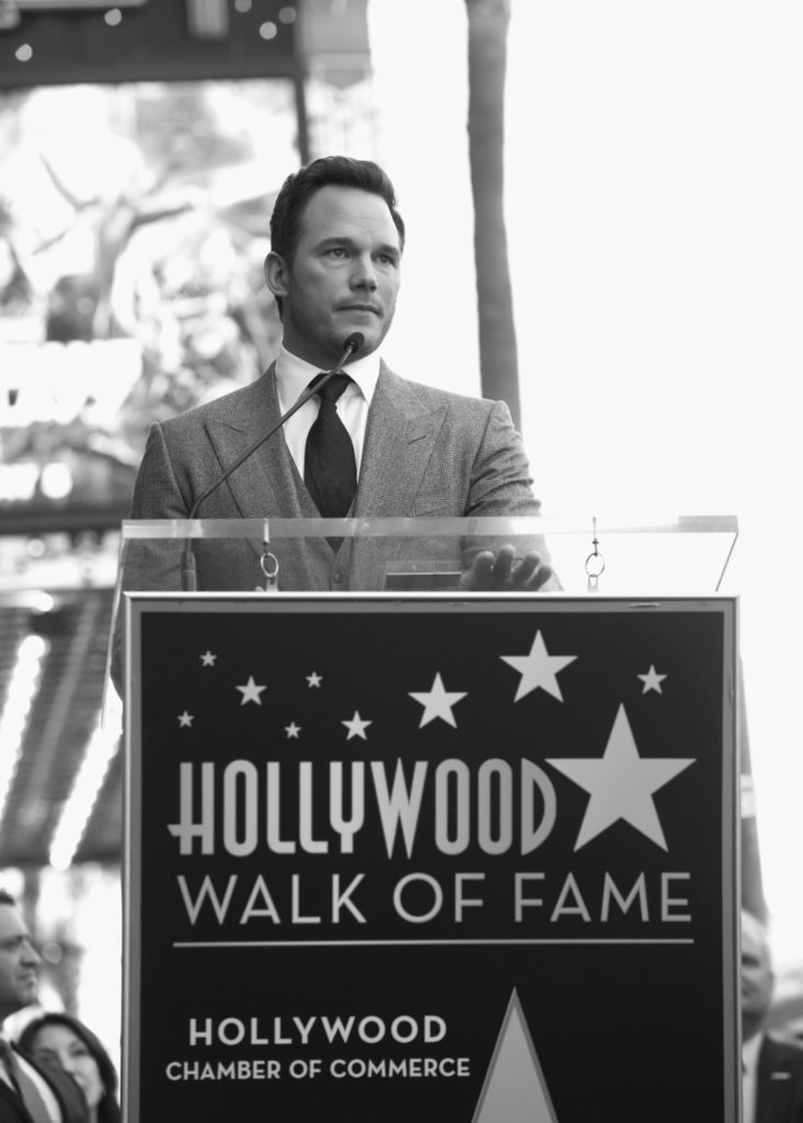 Chris Pratt Walk Of Fame Star Ceremony