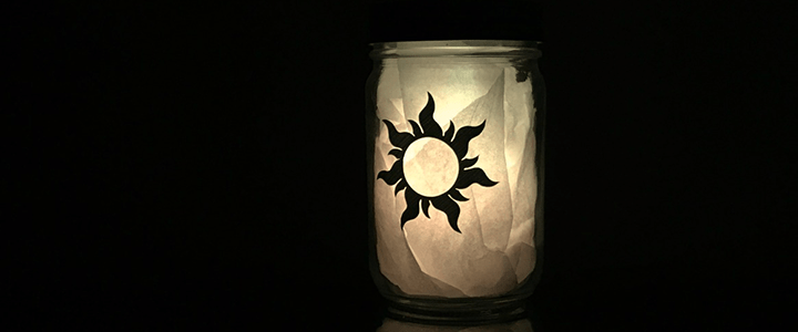 DIY Disney's Tangled Lantern Using Cricut Explore Air