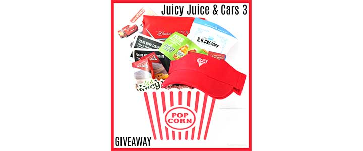 Cars 3 Juicy Juice + Fandango Prize Pack