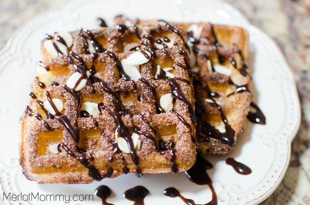 Caramel Churro Dessert Waffles