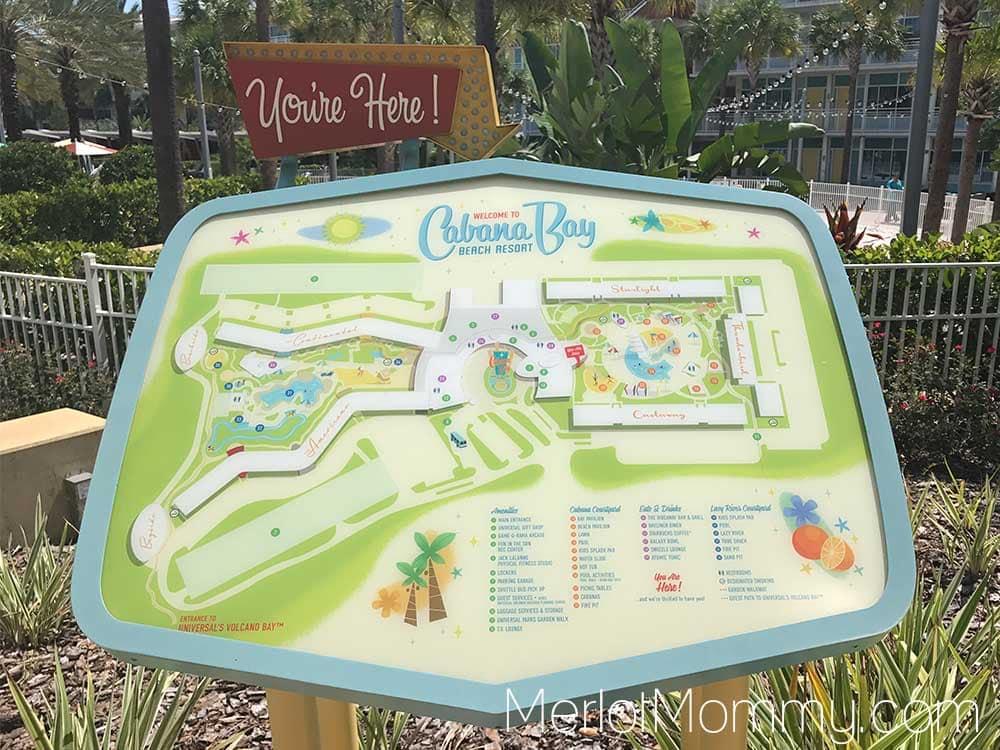 Cabana Bay Beach Resort map