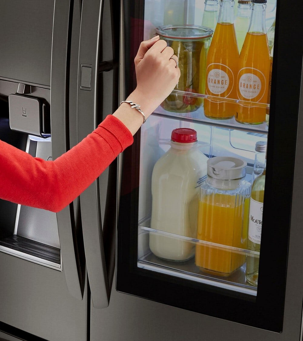 Knock Twice for the New LG Instaview Refrigerator