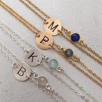 candy drop initial bracelet IsabelleGrace