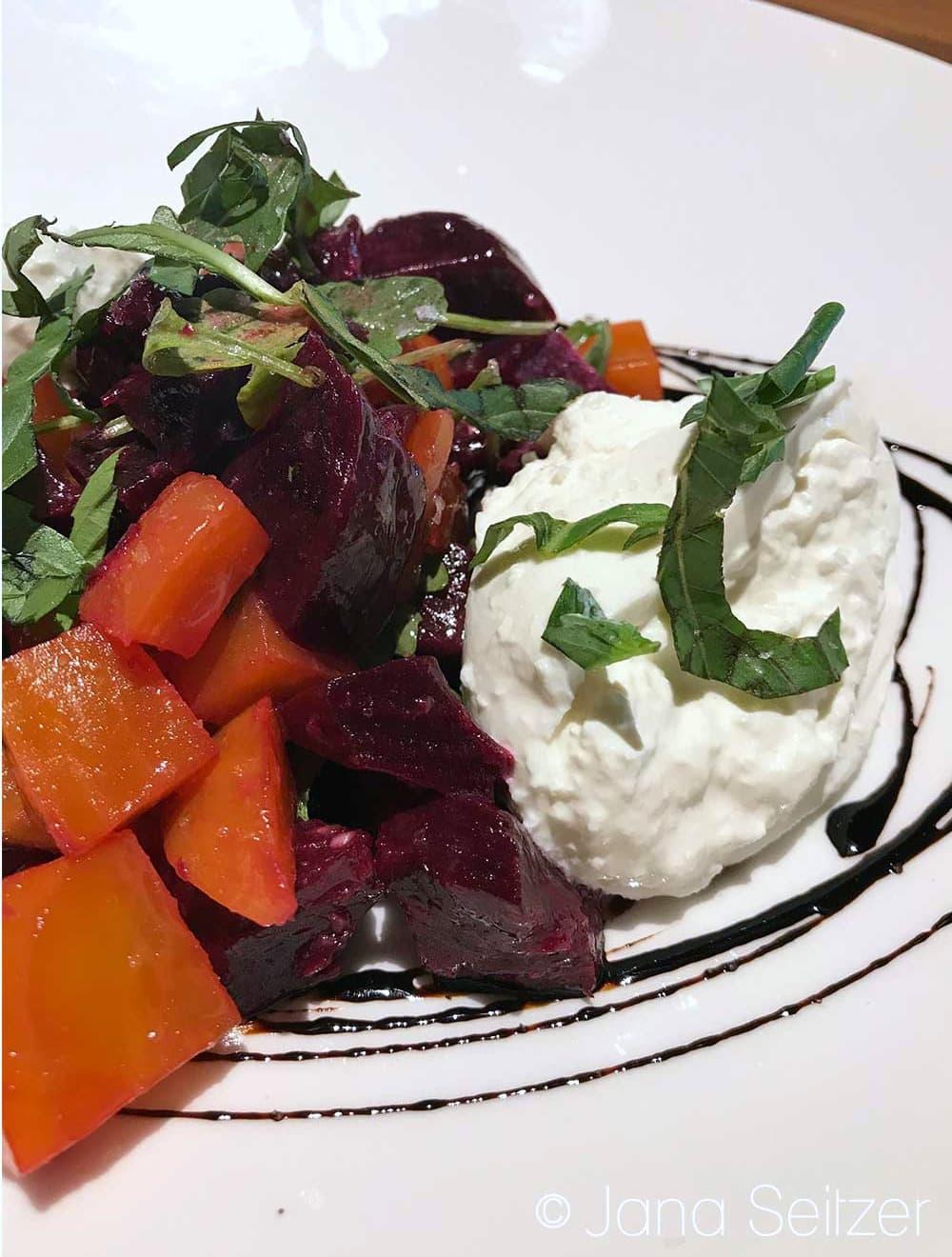 Michael Jordan Steakhouse – Ilani Casino - Roasted Beet & Burrata Arugula Salad