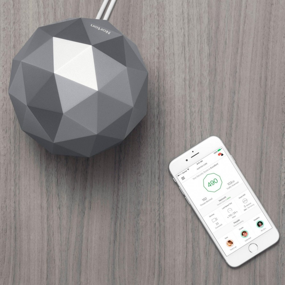 Granite is the Color of Security - Norton Core Secure High-Performance Wi-Fi Router