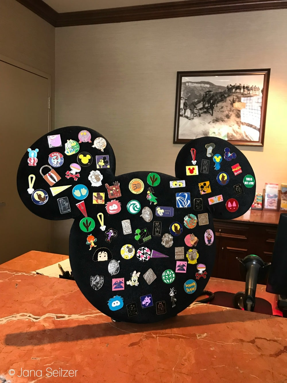 Disney Pin Trading Board at guest services in Disney's Hollywood Studios - Disney Pin Trading 101
