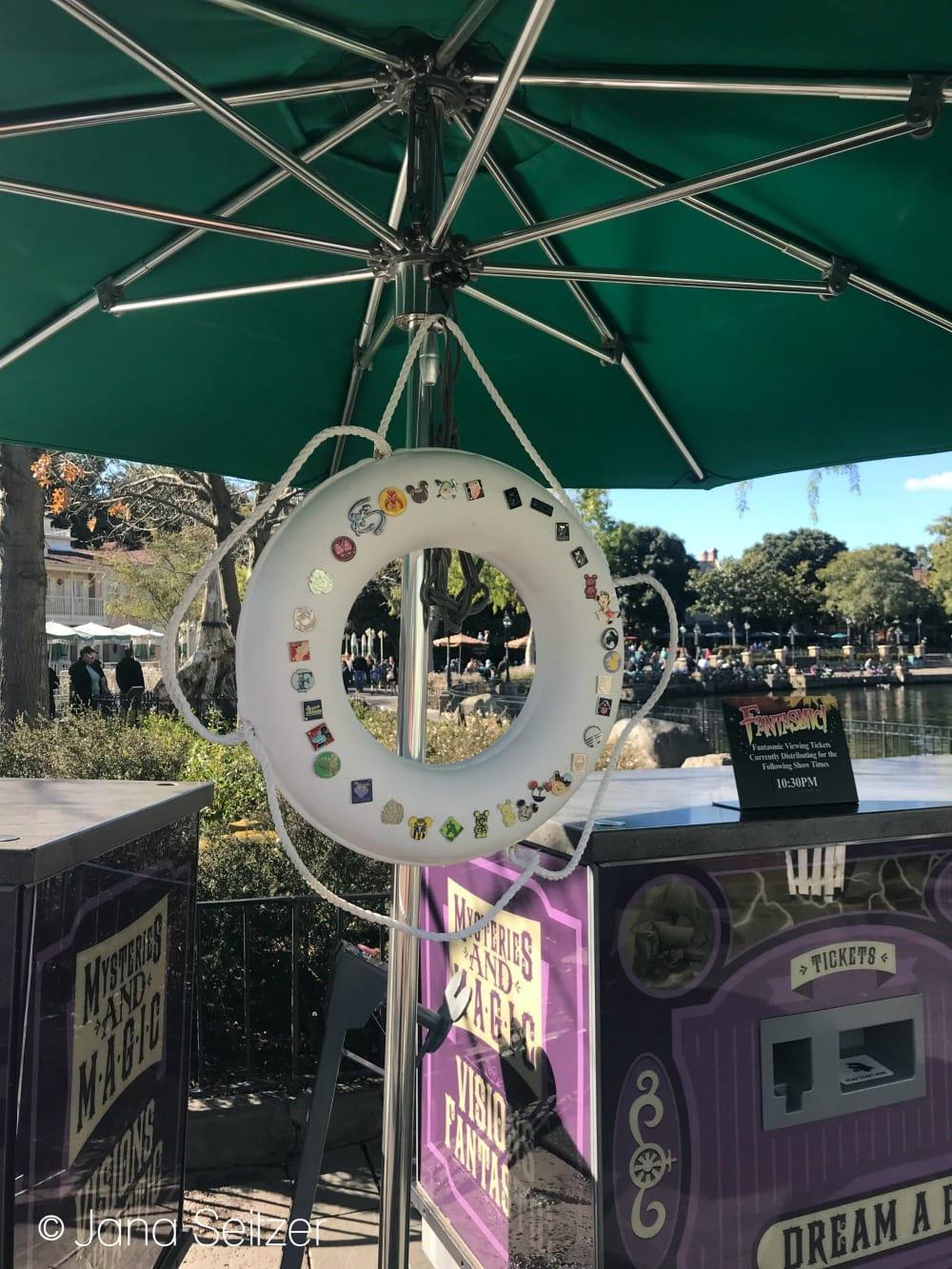 Disney Pin Trading Board at the Riverboat