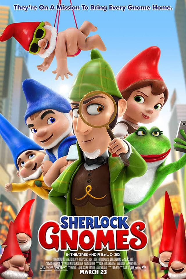 SHERLOCK GNOMES Tickets - Giveaway