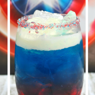 Captain America on the Rocks Cocktail