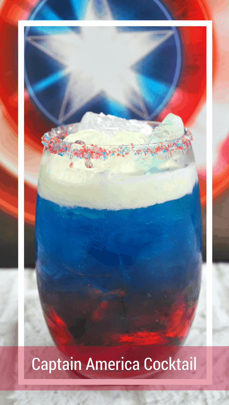 Captain America on the Rocks Cocktail, Avengers Infinity War Cocktail