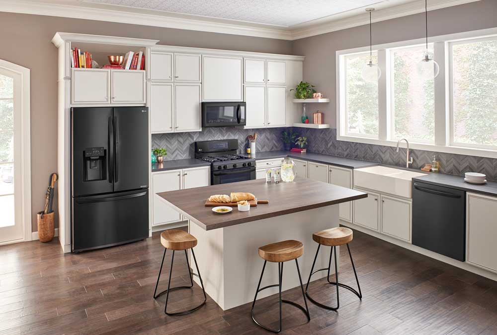 LG Matte Black Stainless Steel For The Ultimate High Tech Kitchen