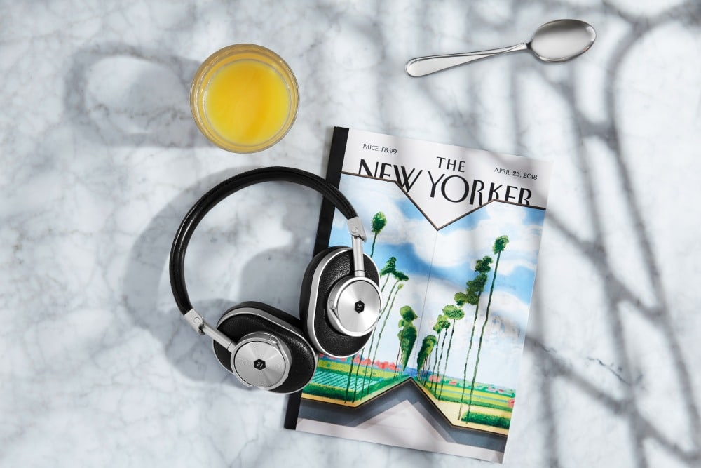 Enjoy Superior Sound Quality with Master & Dynamic Over-the-Ear Wireless Headphones - magazine and OJ