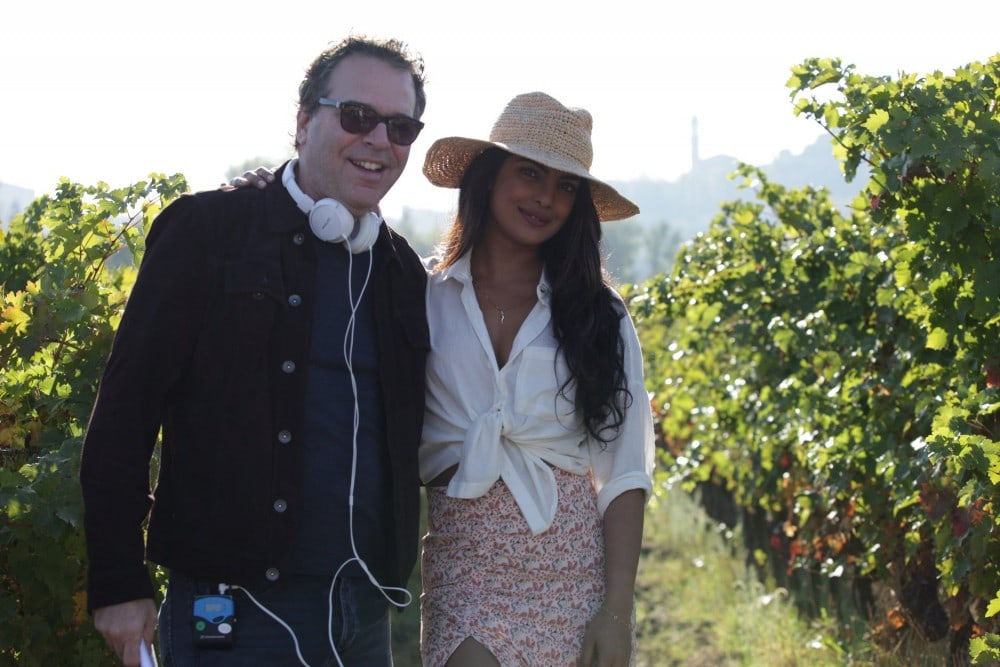 "QUANTICO - Behind the scenes of episode 301 ""The Conscience Code"" MICHAEL SEITZMAN (EXECUTIVE PRODUCER), PRIYANKA CHOPRA"