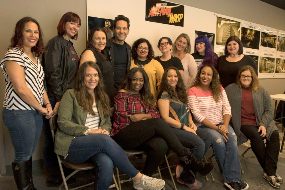 Paul Rudd Interview - Ant-Man and the Wasp Set Visit Group Photo