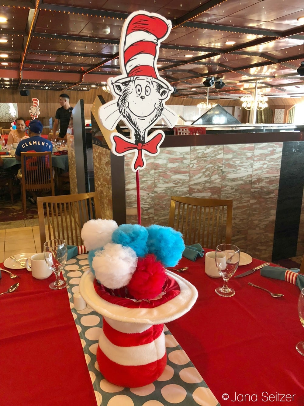 Best Cruise Activities for Tweens and Teens - Carnival Cruise - Green Eggs and Ham decor