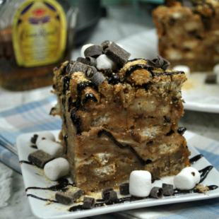 Instant Pot S'mores Bread Pudding with Crown Royal Sauce