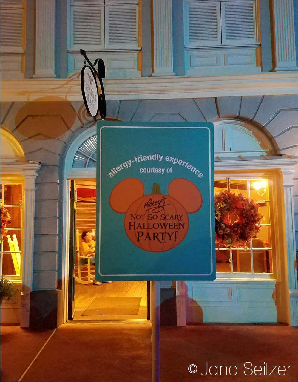 How to Have an Allergy-Friendly Treats at Mickey's Not-So-Scary Halloween Party - allergy-friendly sign