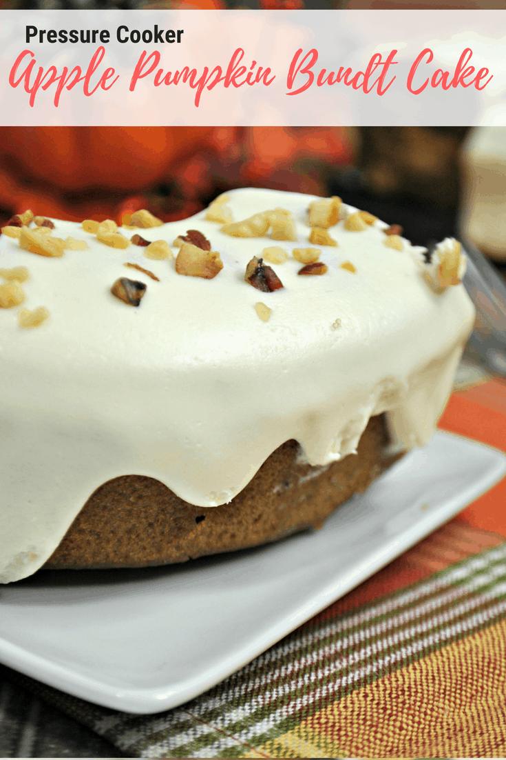Pressure Cooker Apple Pumpkin Bundt Cake