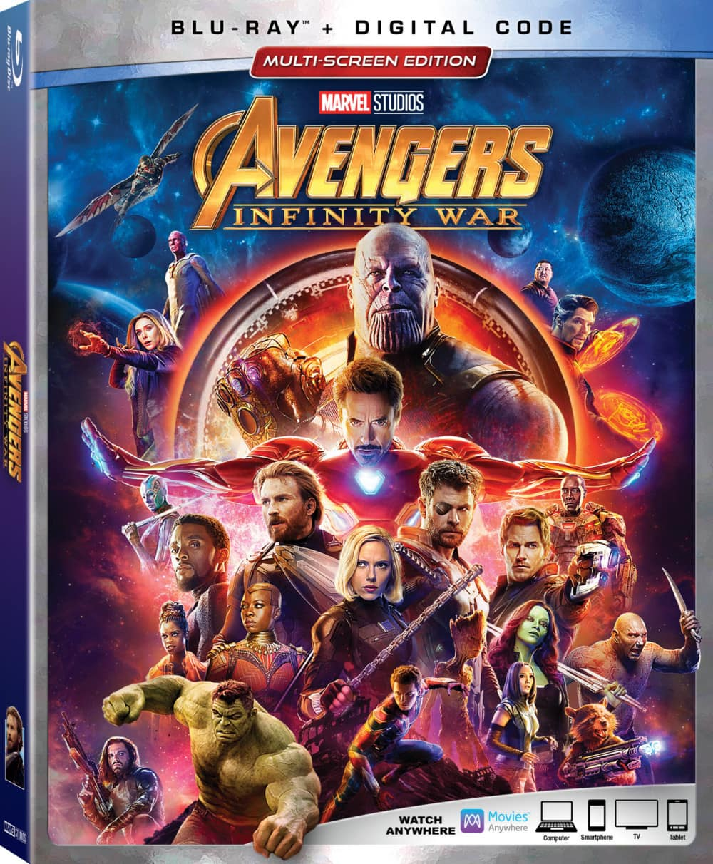 Avengers Infinity War on Blu-Ray August 14