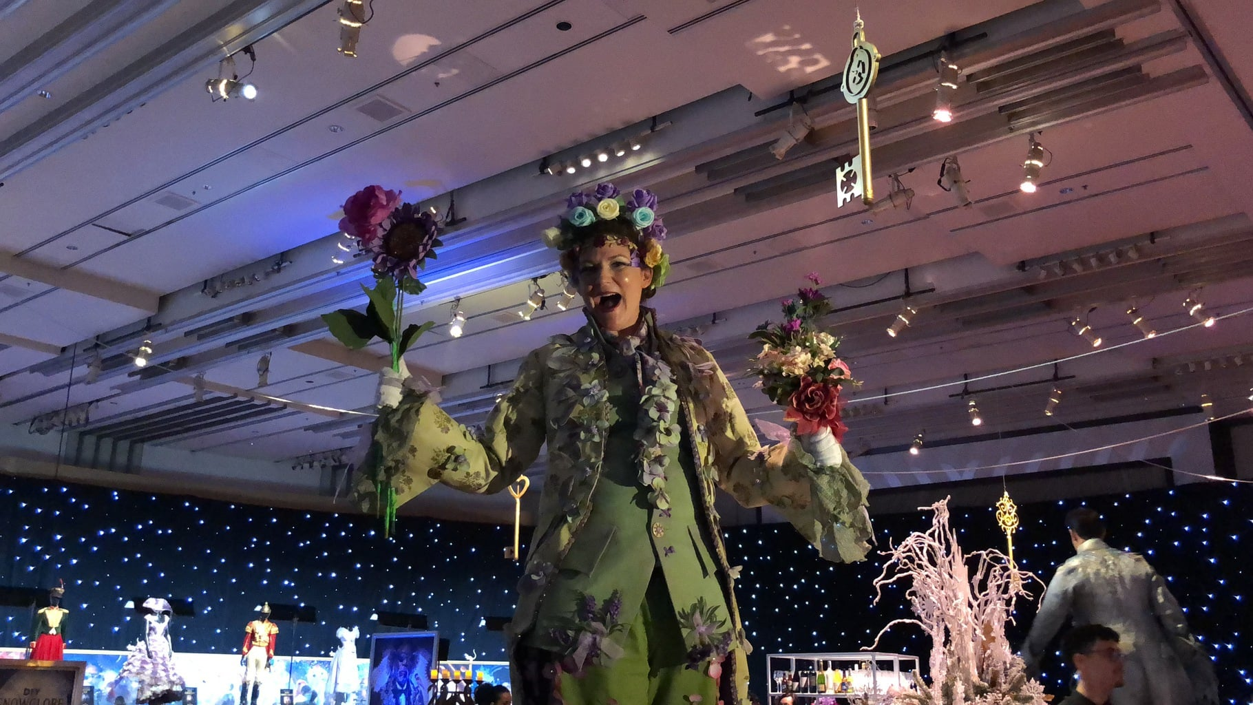 Walking the Red Carpet for Disney's Nutcracker and the Four Realms - stilts